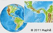 Physical Location Map of Pocrí