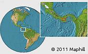 Satellite Location Map of Pocrí