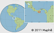 Savanna Style Location Map of Pocrí