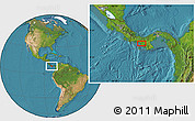 """Satellite Location Map of the area around 8°2'17""""N,81°31'30""""W"""