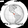 Outline Map of Canoa, rectangular outline