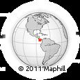 Outline Map of Barranca, rectangular outline