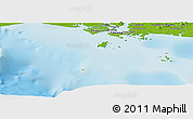 """Physical Panoramic Map of the area around 8°2'17""""N,82°22'30""""W"""