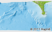 Physical 3D Map of Puerto Armuelles