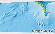 Political 3D Map of Puerto Armuelles