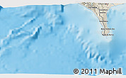Shaded Relief 3D Map of Puerto Armuelles