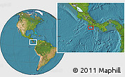 """Satellite Location Map of the area around 8°2'17""""N,83°13'29""""W"""