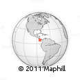 """Outline Map of the Area around 8° 2' 17"""" N, 83° 13' 29"""" W, rectangular outline"""
