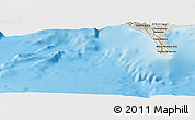 Shaded Relief Panoramic Map of Puerto Armuelles