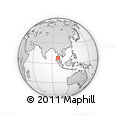 Outline Map of Phuket, rectangular outline
