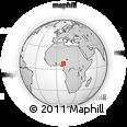 Outline Map of Akwana, rectangular outline