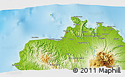 """Physical 3D Map of the area around 8°33'36""""N,123°19'29""""E"""
