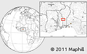 Blank Location Map of Djagbalo