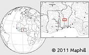Blank Location Map of Koko