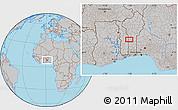 Gray Location Map of Koko