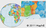 Political Location Map of Koko