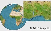Satellite Location Map of Koko