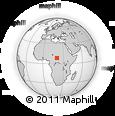 Outline Map of Ndélé, rectangular outline