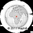 Outline Map of Ouandja, rectangular outline