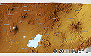 Physical 3D Map of Nazrēt