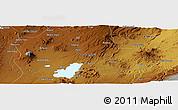Physical Panoramic Map of Nazrēt