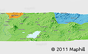 """Political Panoramic Map of the area around 8°33'36""""N,39°10'29""""E"""
