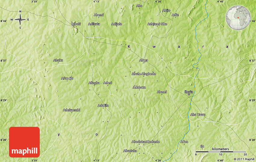 Physical Map of Ilorin
