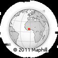 Outline Map of Kouroumanbira, rectangular outline