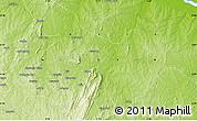 Physical Map of Ada Nda