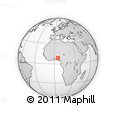 Outline Map of Ada Nda, rectangular outline