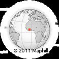 Outline Map of Bisidougou, rectangular outline