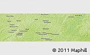 Physical Panoramic Map of Bisidougou