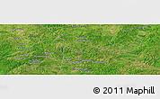 Satellite Panoramic Map of Bisidougou