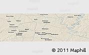 Shaded Relief Panoramic Map of Bisidougou