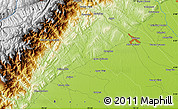 Physical Map of Barinas