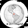 Outline Map of Mérida, rectangular outline