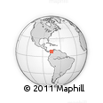 Outline Map of El Crucero, rectangular outline