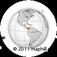 Outline Map of Sapzurro, rectangular outline