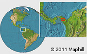 """Satellite Location Map of the area around 8°33'36""""N,78°7'30""""W"""