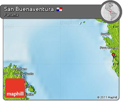 Free Physical Map of San Buenaventura