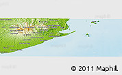 """Physical Panoramic Map of the area around 8°33'36""""N,79°49'29""""W"""