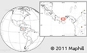 """Blank Location Map of the area around 8°33'36""""N,80°40'30""""W"""