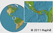 """Satellite Location Map of the area around 8°33'36""""N,81°31'30""""W"""
