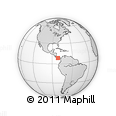 """Outline Map of the Area around 8° 33' 36"""" N, 81° 31' 30"""" W, rectangular outline"""