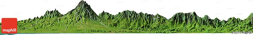 Satellite Horizon Map of Las Lomas