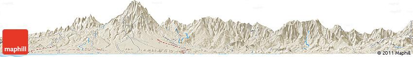 Shaded Relief Horizon Map of Las Lomas