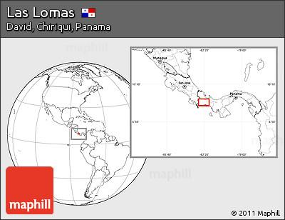Blank Location Map of Las Lomas
