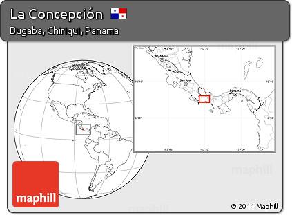 Blank Location Map of La Concepción