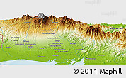 Physical Panoramic Map of Porvenir