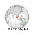 Outline Map of Phangnga, rectangular outline